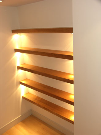 Lighthouse Furniture Bespoke Furniture And Kitchen Maker Mumbles Cool Light Oak Floating Shelves